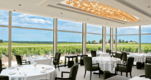 Chateau Lafaurie-Peyraguey dining room