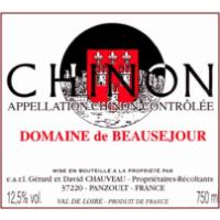 Domaine de Beausejour Chinon wine label