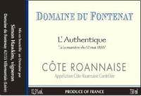 Domaine de Fontenay wine label