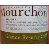 Domaine de Mourchon Rhone wine label